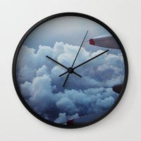 airplane Wall Clocks featuring airplane by venturesomesouls