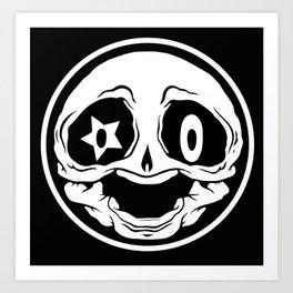 Skull-O Art Print