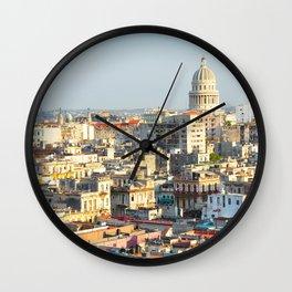 Capitolio-Nacional-Havana-Cuba- Wall Clock