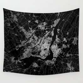 montreal map Wall Tapestry