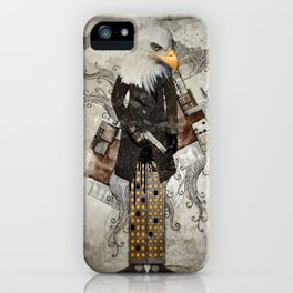 Secret Agent Eagle One iPhone Case