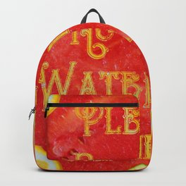 Please! No more Watermelon-Prints! - Living Hell Backpack
