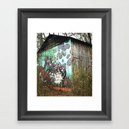 graffiti barn Framed Art Print