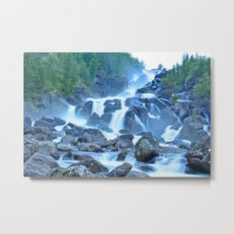 Uchar Waterfall on the Chulcha River, The Big Chulchinsky. Altai, Russia Metal Print