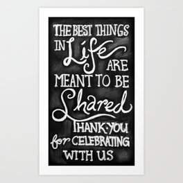 Thank You for Celebrating With Us Art Print