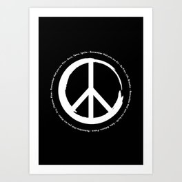 You Are Peace Art Print