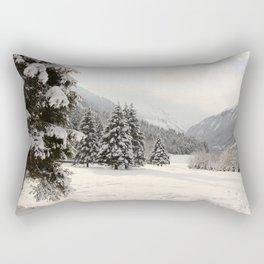 In The Wintertime Rectangular Pillow