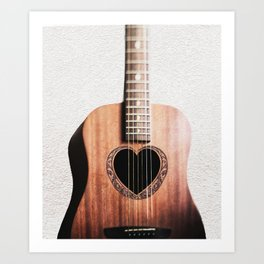 Guitar Heart Art Print