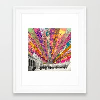 Framed Art Prints featuring Vintage Paris by Bianca Green