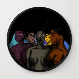 2020 Our Beautiful Color Minus Outsiders by Marcellous Lovelace Wall Clock