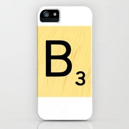 Scrabble B Decor, Scrabble Art, Large Scrabble Prints, Word Art, Accessories, Apparel, Home Decor iPhone Case