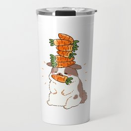 Rabbit collects carrots carrots successfully Gift Travel Mug