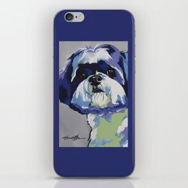 Shih Tzu Pop Art Pet Portrait iPhone Skin