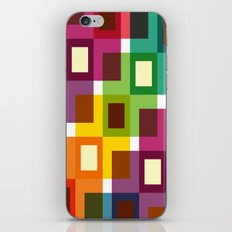 Colorful square pattern iPhone & iPod Skin