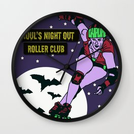 Ghoul's Night Out Roller Club Wall Clock