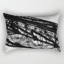 Eiffel Tower Base Detail in Black and White Rectangular Pillow