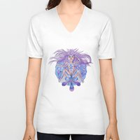 vagina V-neck T-shirts featuring Vagina in sorrow | Vagina en llanto by Valentina Raventós