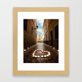 Alley of love Framed Art Print