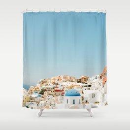 View of Santorini Island Greece Oia Shower Curtain