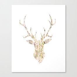 Upcycled Reindeer Canvas Print