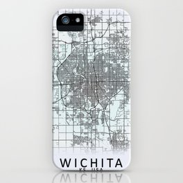 Wichita, KS, USA, White, City, Map iPhone Case