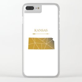 Kansas In Gold Clear iPhone Case