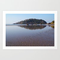 monkey island Art Prints featuring Across the Water to Monkey Island, Palolem by Serenity Photography
