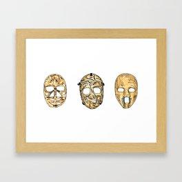 Fibreglass Masks 2 Framed Art Print