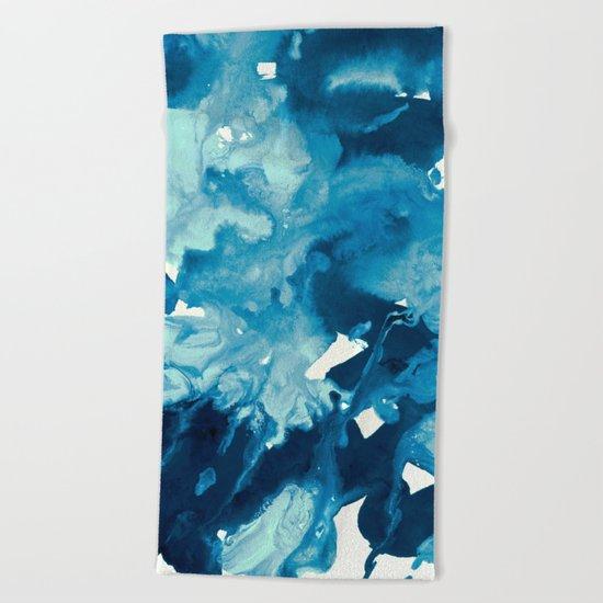 inkblot marble 11 Beach Towel