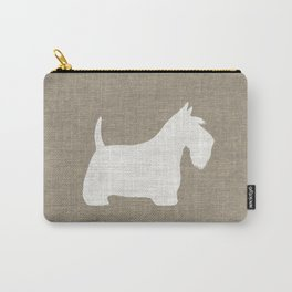 White Scottish Terrier Silhouette Carry-All Pouch