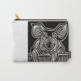 Here Pig (B&W) Carry-All Pouch