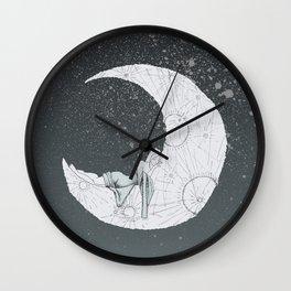 Sleeping Moon Wall Clock