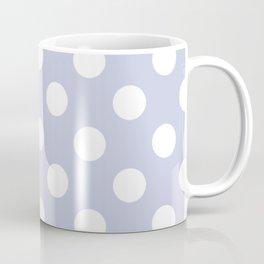 Light periwinkle - grey - White Polka Dots - Pois Pattern Coffee Mug