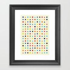 Dot Triangle Square Plus Repeat Framed Art Print
