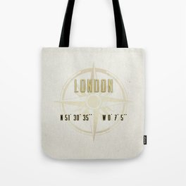 London - Vintage Map and Location Tote Bag