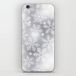 Snowflakes and lights iPhone Skin