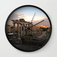 rome Wall Clocks featuring Rome by Anna's design