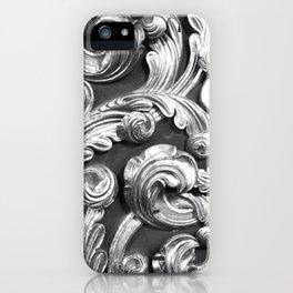 Decorative metalic foliage ornaments iPhone Case