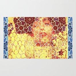 Gustav Klimt & Persian Ceramic Art inspired Rug