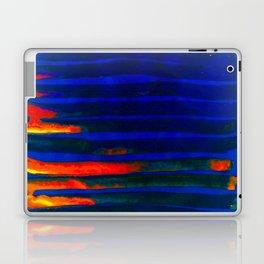 Midnight Blue Lava Lines, Our Earth Burn Marks Laptop & iPad Skin