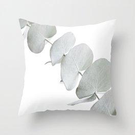 EUCALYPTUS WHITE 3 Throw Pillow