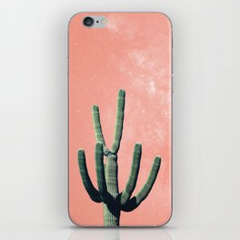 Pink Cactus Boho Mexican iPhone Skin