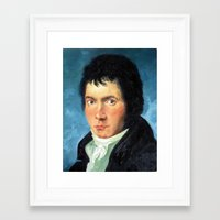 beethoven Framed Art Prints featuring Beethoven by SuchDesign