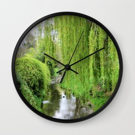 Early Spring Green Wall Clock