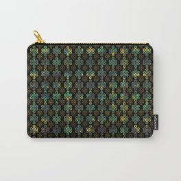 Endless Knot Pattern - Gold and Marble Carry-All Pouch