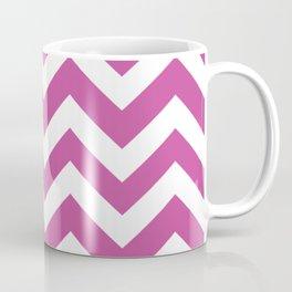 Mulberry (Crayola) - violet color - Zigzag Chevron Pattern Coffee Mug
