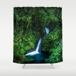 Jungle Waterfall Shower Curtain