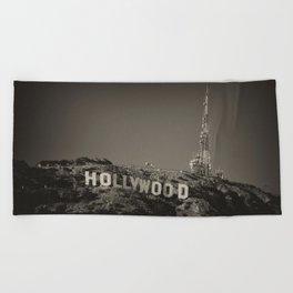 Vintage Hollywood sign Beach Towel