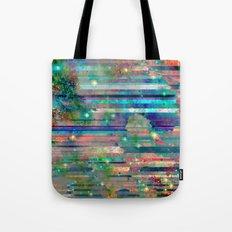 Space Glitch Tote Bag
