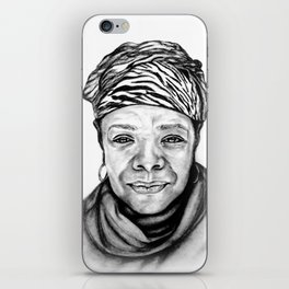 Maya Angelou - BW Original Sketch iPhone Skin
